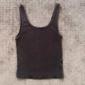 pacsun charcoal grey tank top